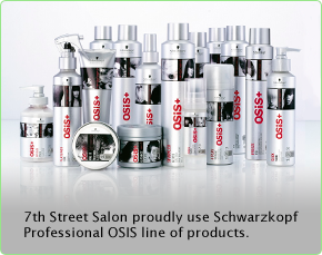 7th Street Salon proudly use Schwarzkopf Professional OSIS line of products.
